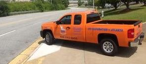 Water Damage and Mold Restoration Pickup Truck